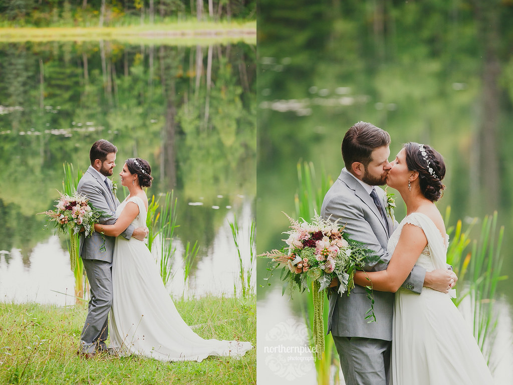 Romantic Backyard Wedding Prince George British Columbia