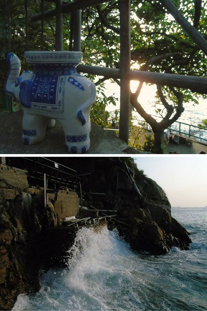 One of Hong Kong's Hidden Gems the Sai Wan Swimming Shed is filled with knick knacks and prayer stations