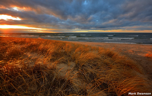 park autumn sunset sky lake beach nature water grass sunshine clouds outdoors evening sand nikon waves michigan dunes great lakes scenic sigma peaceful 1020mm expanse d5100