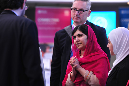 Malala Yousafzai with delegates at the Supporting Syria and the Region conference | by DFID - UK Department for International Development