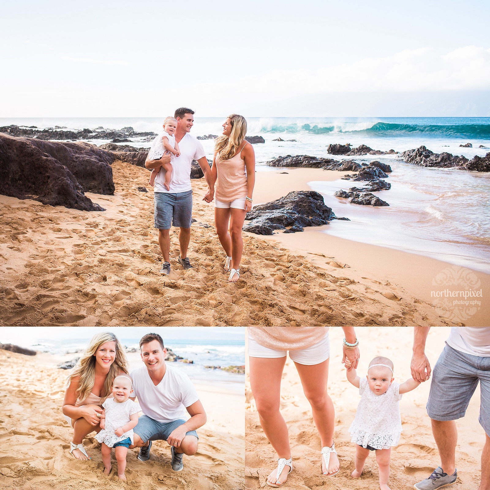 Family Photos at the Beach - Maui
