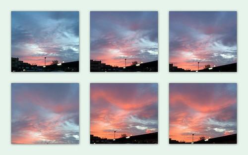 Amanecer en seis imágenes