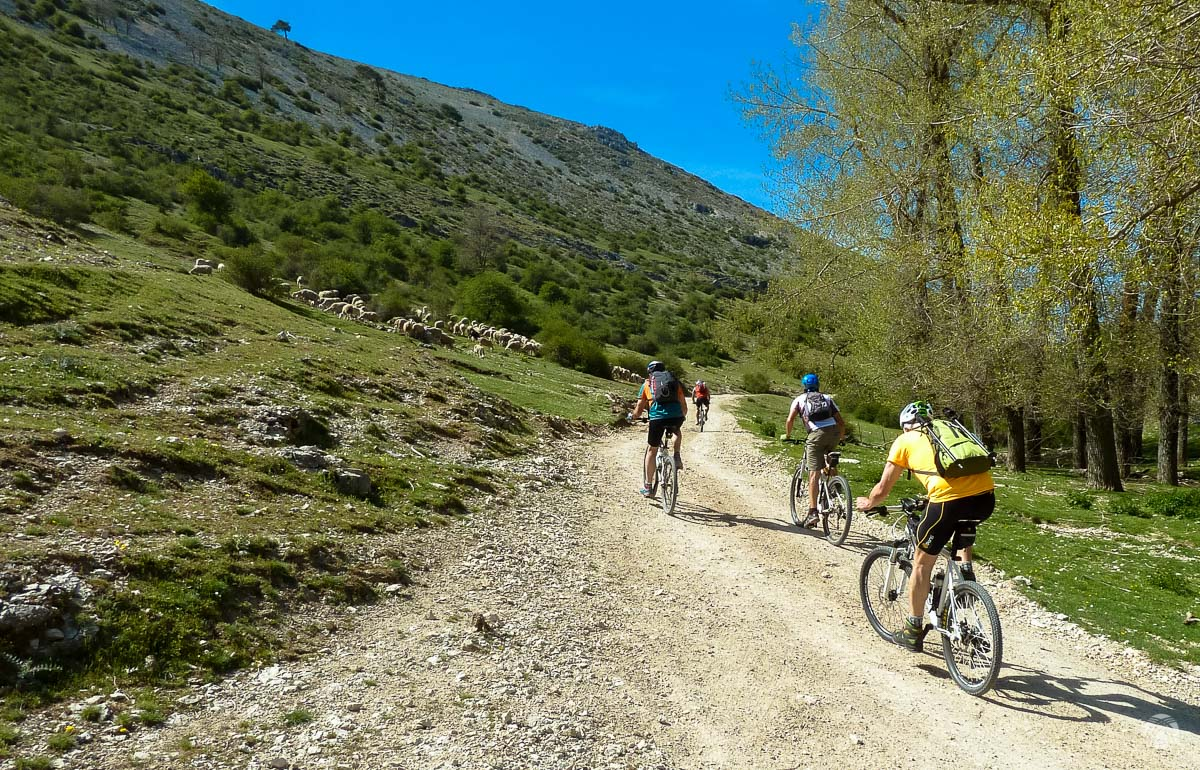 Primeros pedales bajo el Calar de las Palomas