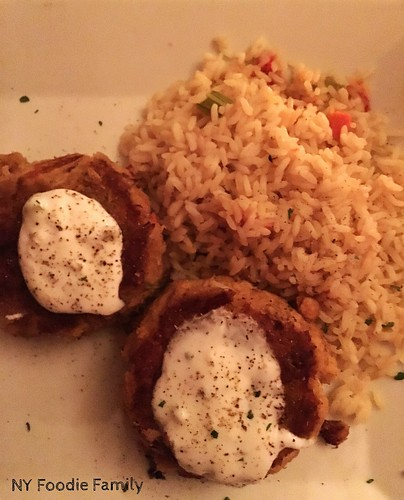 Crab Cakes and Rice from The Chophouse Grille