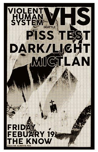 2/19/16 VHS/PissTest/DarkLight/Mictlan