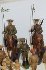 Antique toy soldier British lancers