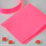 neon pink felt