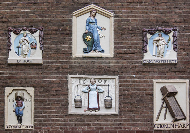 House signs on Amsterdam Museum wall