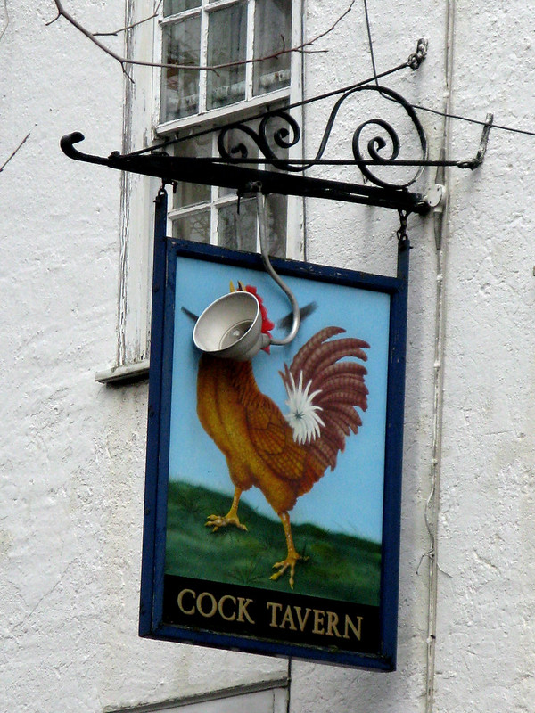 Cock Tavern sign
