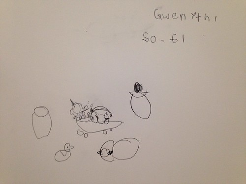 My 7-yr-old daughter's version of the still life. :)