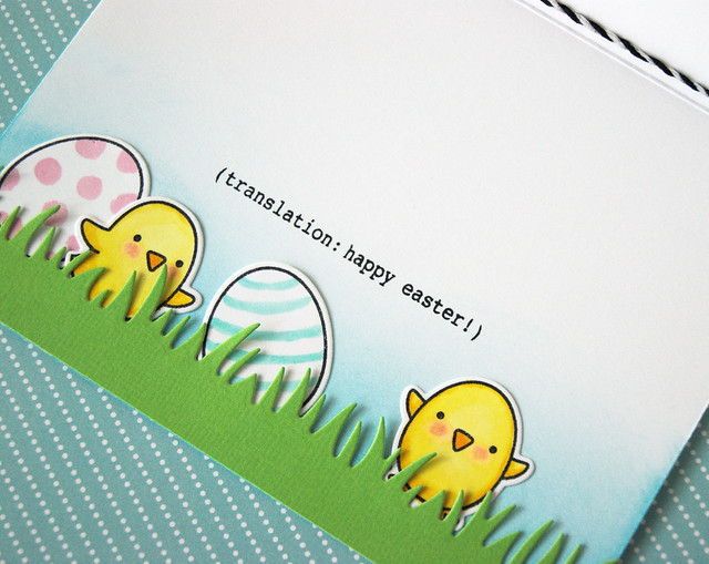 Easter window card - inside
