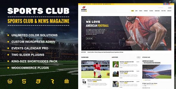 Themeforest Sports Club v1.0 - Football, Soccer, Sport News Theme