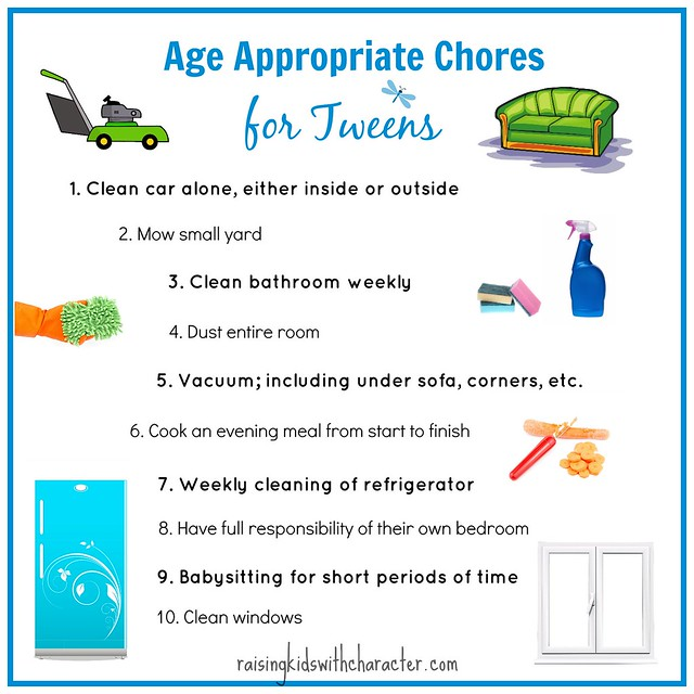 Age Appropriate Chores for Tweens