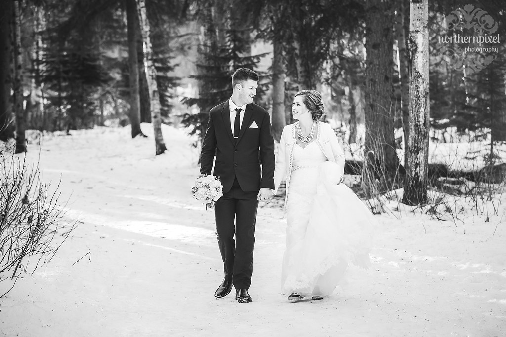 Winter Wedding - Prince George British Columbia Elopement Photographers