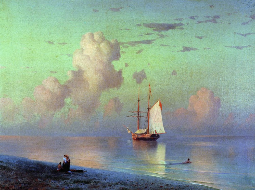 Sunset - Ivan Aivazovsky, 1866