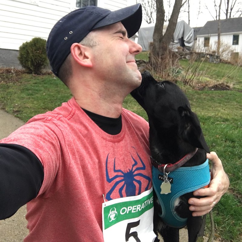 Post-race Puggle Kisses