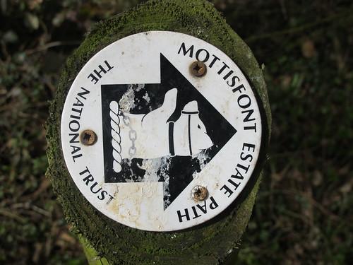 Mottisfont Estate Path Marker