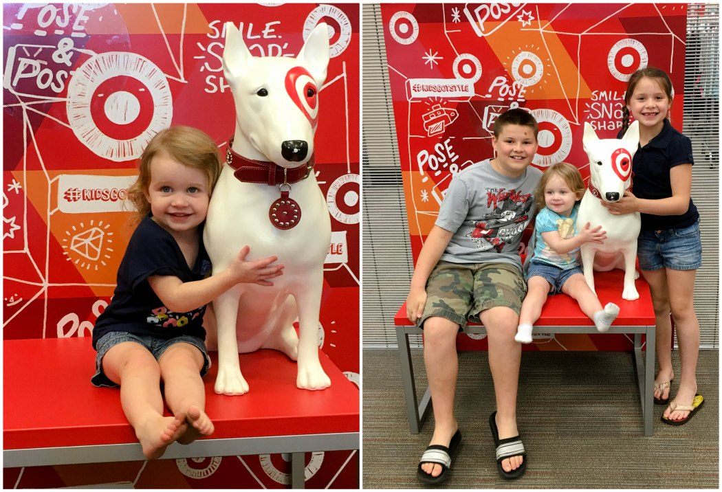 lovin' on the target dog