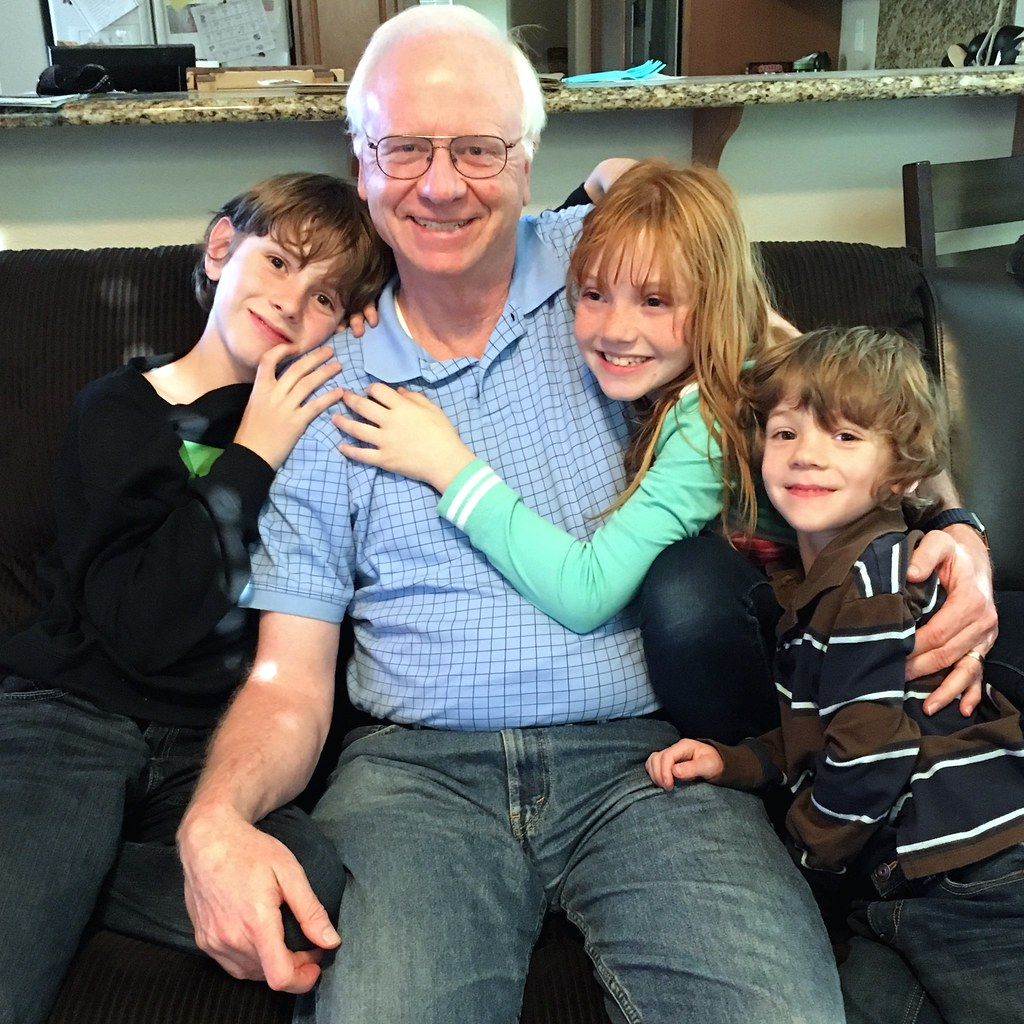 Kids with Grandpa