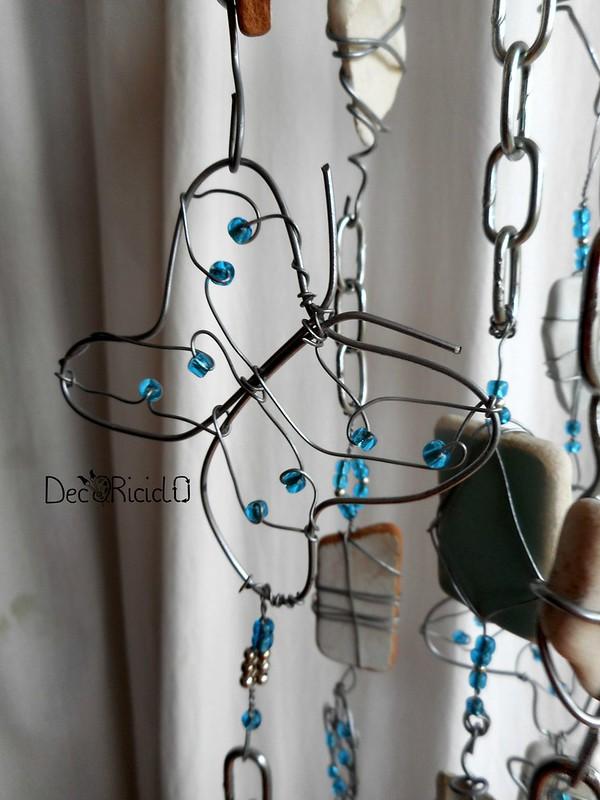 mobìle farfalle, vetro e ceramica 5