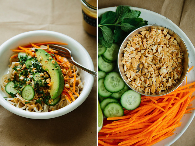 Deconstructed spring roll bowls