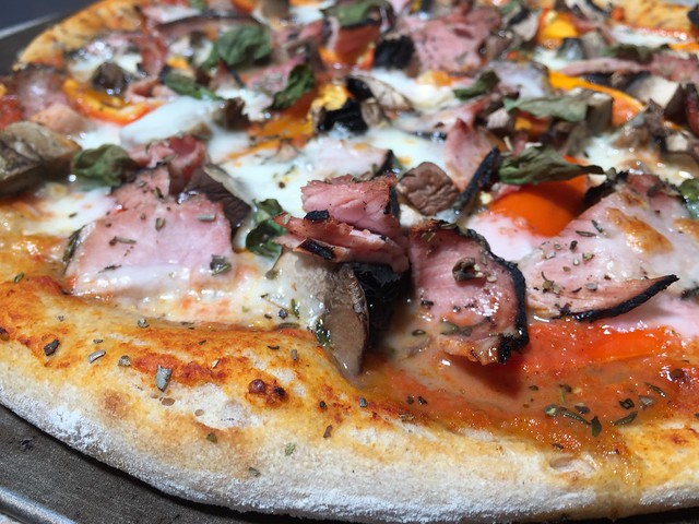 Black Forest Ham/Portabella/Sweet Peppers Pizza