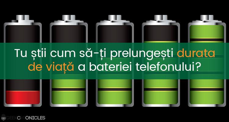 mareste durata de viata a bateriei