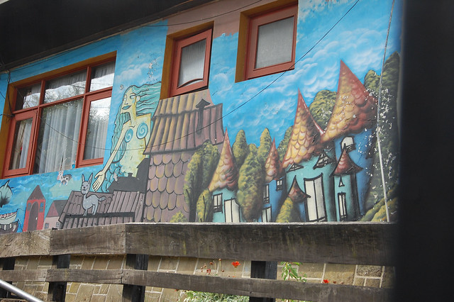 Mural in Ancud, Chiloé, Chile