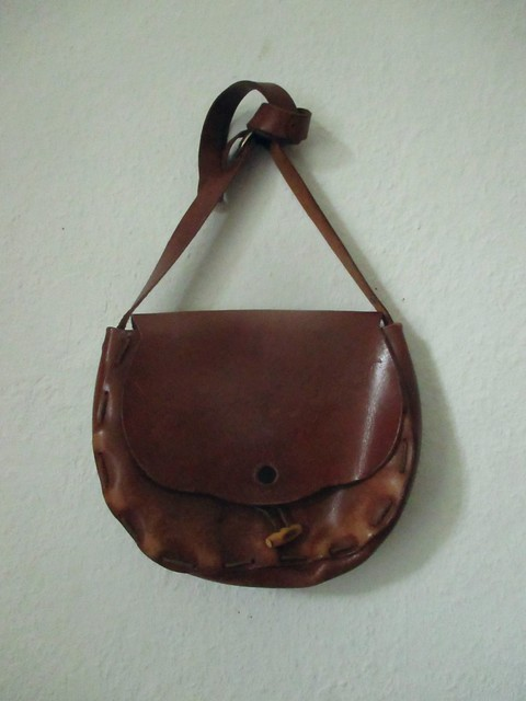 Thrifting: leather bag