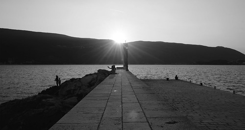 life street sunset sea people sun seascape blackwhite opposite silohuette hercegnovi