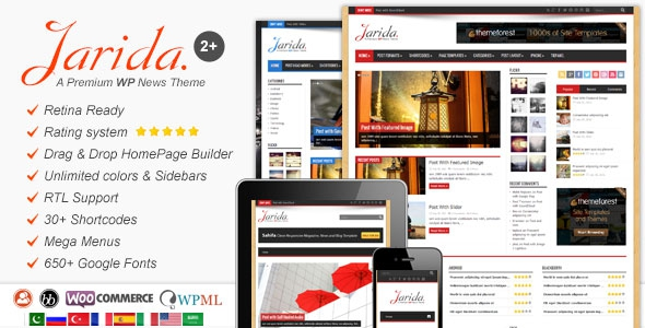 Jarida 2.4.5 – Responsive WordPress News, Magazine, Blog