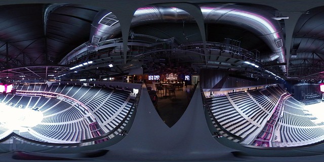 How about a @SamsungMobileUS #Gear360 shot from the top of the @TMobileArena!