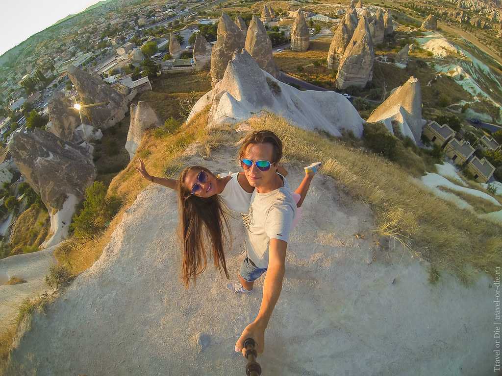 GoPro Selfie in Göreme, Cappadocia / Селфи на фоне заката в Гёреме, Каппадокия