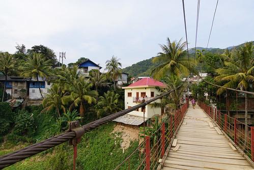 bridge asien laos suspensionbridge lao hängebrücke muangkhua muangkhoua