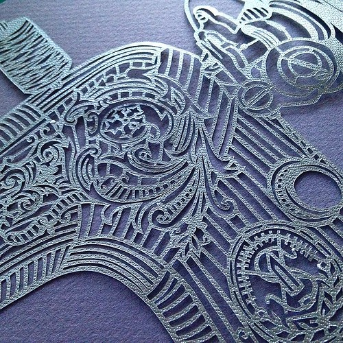 Singer Sewing Machine Paper Cutting, Detail - Pretty Paper Dreams