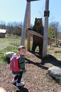 Meet the bear! @ Kinsmen Park