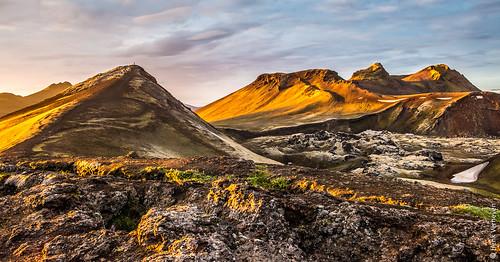 fotoreis ijsland landmannalaugar natuur zonsondergang iceland nature sunset midsummernight ~themagicofcolours~eliteii