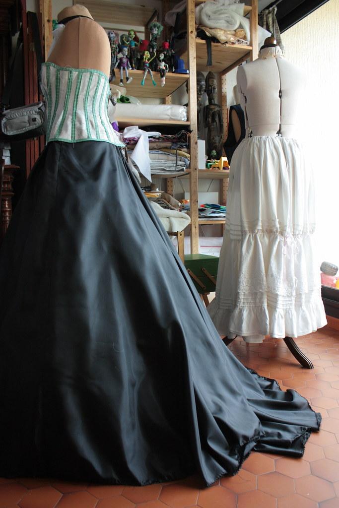 Toile de robe de mariée gothique