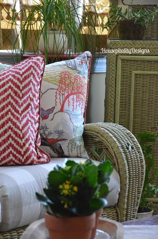 Sunroom pillows - Housepitality Designs