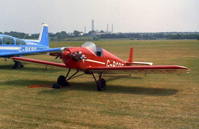 G-BKPS American AA-5B + G-BGBF Druine D.31 Turbulent