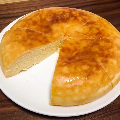 バレンタインだから炊飯器でチーズケーキをつくったよ