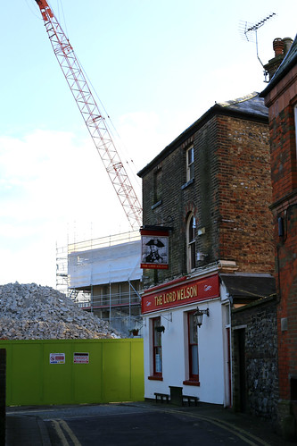 The ongoing demolition of Burlington House, Dover