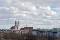 The Frauenkirche, the cathedral of the Archdiocese of Munich and Freising, as seen on February 11, 2016, during the visit of U.S. Secretary of State John Kerry for meetings focused on Syria, and so he can attend the Munich Security Conference. [State Department photo/Public Domain]