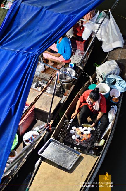 Amphawa Floating Market Boat Hawkers
