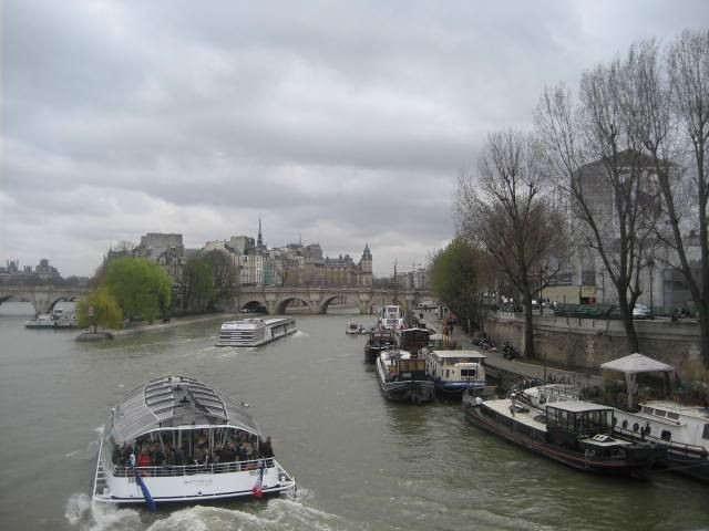 View towards Ile de la cite, Paris