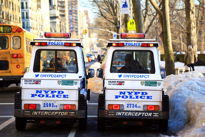 police new-york little car
