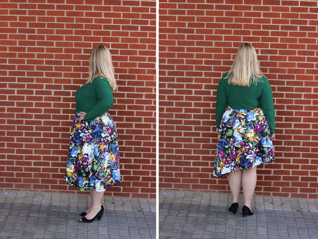 Idle Fancy - Asymmetrical Floral Skirt with Mood Fabrics - KnipMode 10-2015-2054