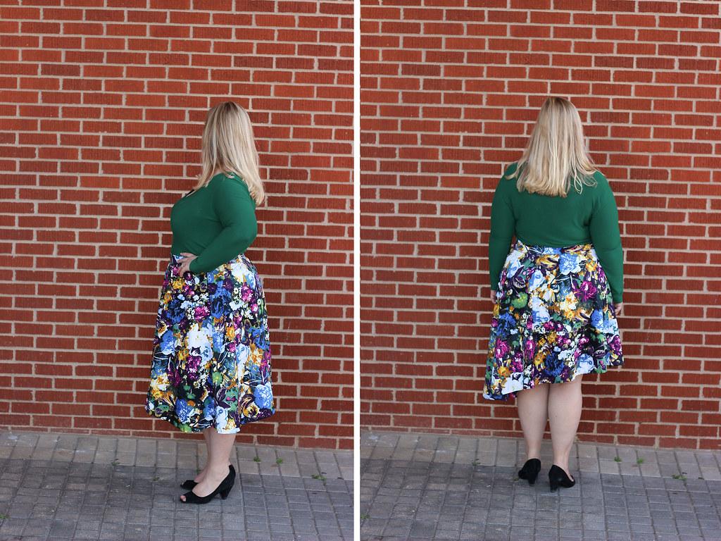 Idle Fancy - Asymmetrical Floral Skirt with Mood Fabrics - KnipMode 10-2015-2054