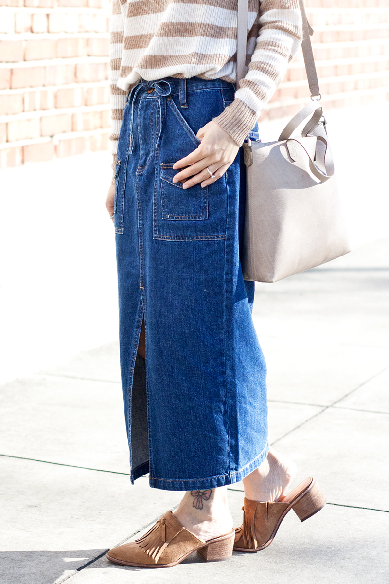 07madewell-denim-skirt-stripes-sweater-suede-mules