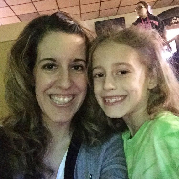 Cosmic bowl with my sweet girl for Daisy scouts! #daisyscouts #cosmicbowl